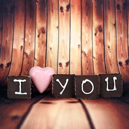 I love You chocolates